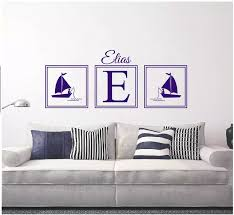 Large Size 55x180cm Custom Name Wall Decal Fishing Boy Nautical Name Personalized Wall Sticker Nursery Baby Room Decor Mural W 4 Decoration Murale Name Wall Stickerswall Sticker Aliexpress