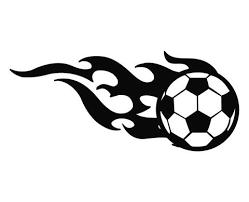 Soccer Ball Flames Die Cut Vinyl Decal Sticker Decals City
