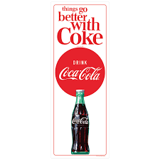 Coca Cola Things Go Better 1960s Wall Decal At Retro Planet