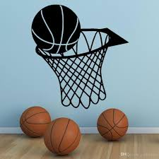 Wall Art Sticker Basketball Sports Wall Decals Removable Vinyl Basketball And Net Wall Mural Kids Boys Room Decoration Wall Wear Removable Stickers Wall Word Art From Joystickers 14 02 Dhgate Com