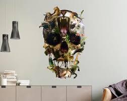 Sugar Skull Wall Decal Etsy