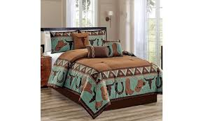 off on 7 pc rustic comforter set hor
