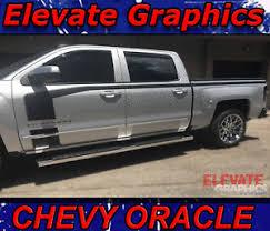 2016 2018 Chevy Silverado Side Oracle Stripes Hood Graphics Vinyl Decals Sticker Ebay