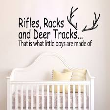 Rifles Racks Deer Tracks Boys Hunting Vinyl Wall Decal Bedroom Home Nursery