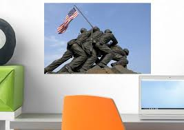 Amazon Com Wallmonkeys Us Marine Corps War Memorial Wall Decal Peel And Stick Graphic Wm254842 18 In W X 12 In H Home Kitchen