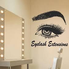 Eyelash Eye Wall Decal Eyelash Wall Sticker Eye Eyebrows Etsy