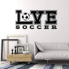 Vinyl Wall Decal Soccer Ball Love Sports Fan Teen Room Decor Stickers Wallstickers4you