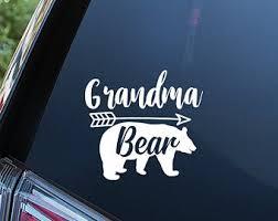Grandma Bear Decal Etsy