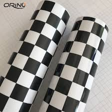 Matte Glossy Racing Sport Black White Checkered Flag Sticker Vinyl Film Adhesive Car Bike Motorcycle Decal Camo Car Wrap Foil Car Stickers Aliexpress