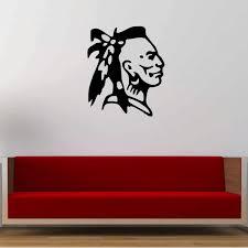 Buy Studio Briana Cherokee Indian Line Vector Art Head Wall Decal Sticker On Premium Vinyl Online At Low Prices In India Amazon In