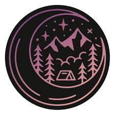 Cosmic Camp Decal Dishwasher Safe Camping Sticker Hydroflask Car Sticker Art