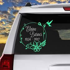 Buy 5 And Get 1 Free Memorial Decals Are A Great Way To Honor The Passing Of A Family Mem Christian Car Decals Window Stickers Memorial Decals Car Stickers
