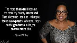 oprah winfrey quotes to charge your day gratitude goalcast