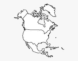 Clip Art North America Map Clipart - North America Map, HD Png ...