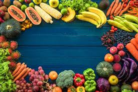 background fruit vegetables cuts