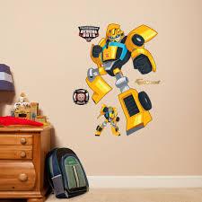 Fathead Hasbro Transformers Bumblebee Rescue Bots Peel And Stick Wall Decal Wayfair