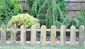 3m Cottage Low Wooden Picket Fence Set Of 3 H28cm 22 99