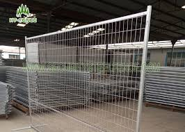 Square Tube Frame Temporary Fence Panels Construction Temporary Fencing