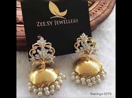 beautiful jhumka design by zee sy