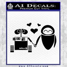 Wall E And Eve Love Decal Sticker A1 Decals
