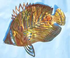 wall yard outdoor art fish silhouette