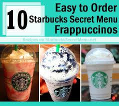 starbucks secret menu frappuccinos