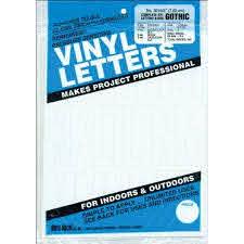Duro Decal Permanent Adhesive Vinyl Letters Numbers 3 Gothic White Walmart Com Walmart Com