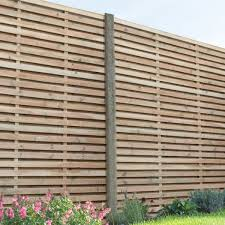Hartwood 6 X 6 Pressure Treated Contemporary Slatted Fence Panel