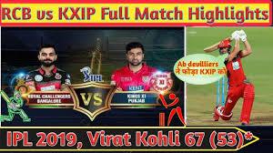 RCB vs KXIP Full Highlights 2019 ...