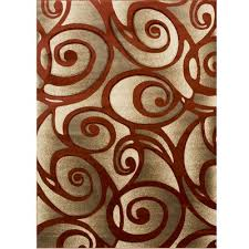rugs evolution swirl rust gold area rug