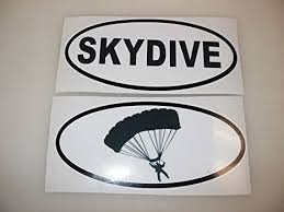 Amazon Com Skydive Parachute Oval Decals Car Window Bumper Sticker Plane Sky Dive Everything Else