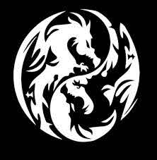 Dragon Yin Yang Window Decal Sticker Custom Sticker Shop