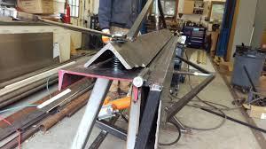 diy aluminum sheet metal brake air