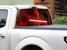 Product Darth Vader Movie Star Wars Rear Window Decal Sticker Pick Up Truck Suv Car Any Size