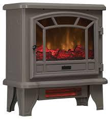 grey infrared quartz electric fireplace