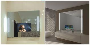 stylish tv behind mirror hide a my web