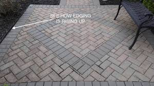 installing the right paver edging