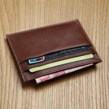 brown leather mens card holder rs 50