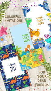 Invitaciones De Cumpleanos Dinosaurios For Android Apk Download
