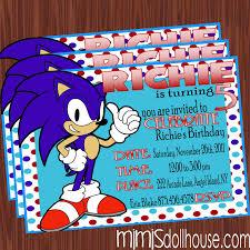 Sonic Invite Pic Fiesta De Sonic Fiestas De Cumpleanos De Sonic