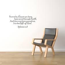 It Is By Grace Vinyl Wall Quote Decal Ephesians 2 8 God S Word Scripture J247 Walmart Com Walmart Com