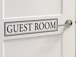 Guest Room Bedroom Door And Wall Decal Story Of Home Decals