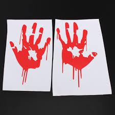 Buy Red Bloody Hand Print Vinyl Decal Car Window Sticker Zombie Horror Bazaargadgets Com