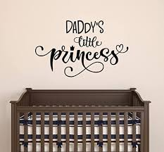 Amazon Com Vinyl Wall Decal Words Daddy S Little Princess Nursery Children S Room Stickers Mural 22 5 In X 13 In Gz183 Home Kitchen
