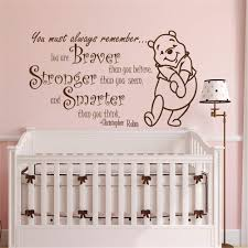 Amazon Com Wall Stickers Decals Decor Quote Winnie The Pooh Vinyl Stickers Winnie The Pooh Wall Decal Nursery Decor Wall Decal Nursery You Are Braver Than You Believe Wall