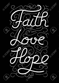 faith love hope inspirational and motivational quote modern