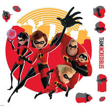 The Incredibles Giant Wall Decals Elastigirl Flash Violet Stickers Kids Decor For Sale Online