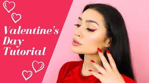 valentines day red glitter liner makeup