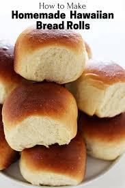 make homemade hawaiian bread rolls