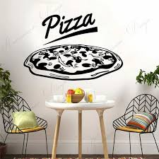 Restaurant Delicious Pizza Wall Sticker Vinyl Fast Food Shop Window Decals Removable Self Adhesive Kitchen Decor Wallpaper 4219 Wall Stickers Aliexpress